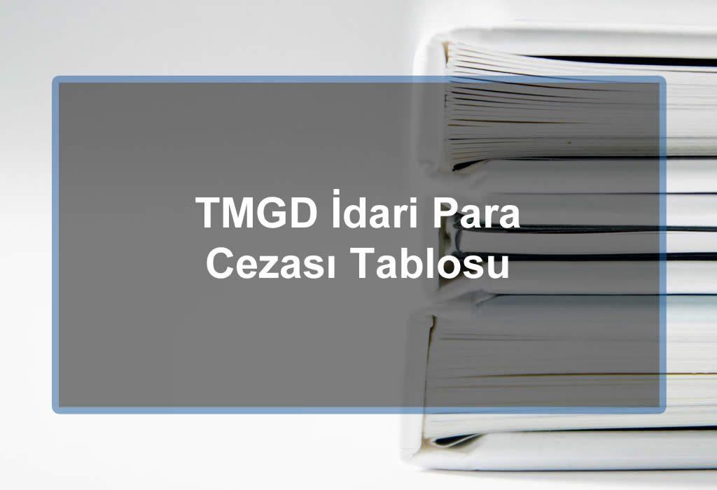 ADR ve TMGD İdari Para Cezası Tablosu