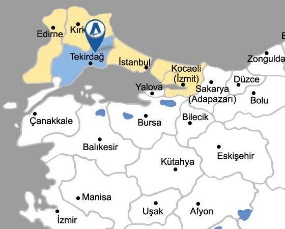 Tekirdağ-Çorlu- Çerkezköy- Silivri TMGD